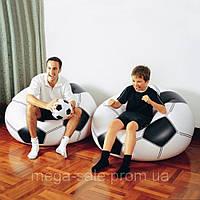 Надувное кресло футбольный мяч интекс Intex 108х110х66см