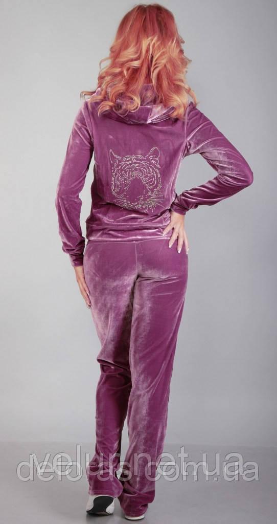 Бархатный спортивный костюм женский