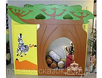 """Кровать - чердак с мебелью и игровой"""" Баобаб"""". Ольха, ясень, МДФ."""