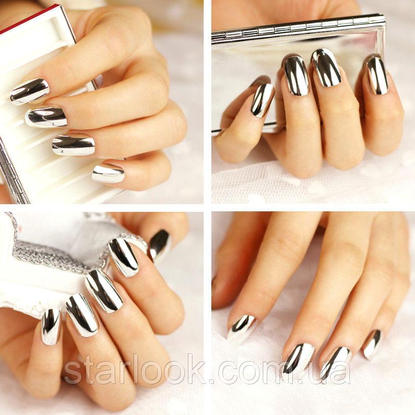 Как сделать серебристые ногти