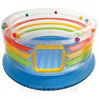 Детский игровой центр Intex 48264 батут надувной  Размеры: диаметр 182 см. Высота борта: 86 см.