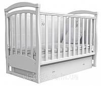Детская кроватка Маятник ЛД6 Верес (белая)
