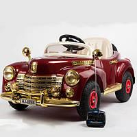Детский электромобиль Buick 8888 RETRO - БОРДО (резиновые колеса) - Купить оптом в Украине