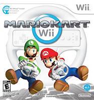 Руль Wii Wheel+игра Mario Kart Wii