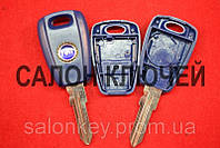 Ключ Fiat doblo, punto, корпус 1 кнопка  лезвие FI15 Синий
