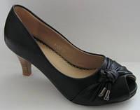 Летние женские туфли с открытым носком 36, 38