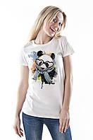 Футболка женская Панда с принтом 013-00033-003