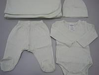 Набор для новорожденного (боди, ползунки, шапочка, одеяльце)