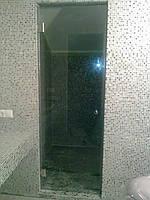 Стеклянные двери для сауны Киев