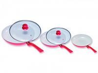 Набор керамических сковородок CERAMICORE-3PCS (В комплекте 6 шт)