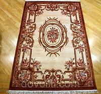 Шерстяной ковер ручной работы,коричневый (классик)