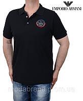 Футболка мужская стильная Armani-172 черная