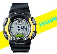 Спортивные наручные часы Mingrui 6600 ( цвет: черный, красный, желтый ) секундомер, WR30M