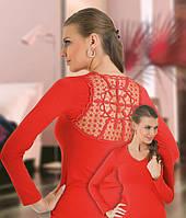 Блуза трикотажная, красная