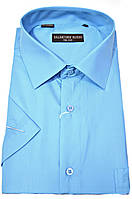 """Рубашка мужская """"Salvatore Russo"""". Голубая. Однотонная"""