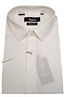 """Рубашка мужская """"Sigmen"""". Бежевая. Однотонная. Короткий рукав"""