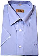 """Рубашка мужская """"Viktor"""". Голубая. Короткий рукав"""