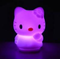 Детский Мини светильник-хамелеон Hello Kitty