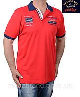 Футболка мужская брендовая Paul Shark-024 красная