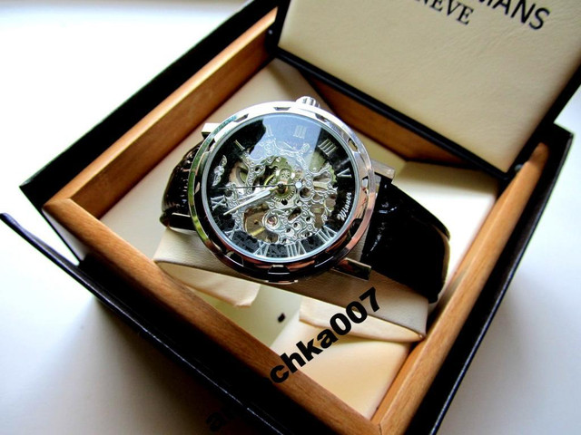 Orifinal Мужские механические часы Winner Silver Hollow (механика с автоподзаводом), часы Виннер механические - фото 1