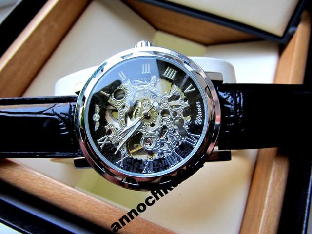 Orifinal Мужские механические часы Winner Silver Hollow (механика с автоподзаводом), часы Виннер механические - фото 2
