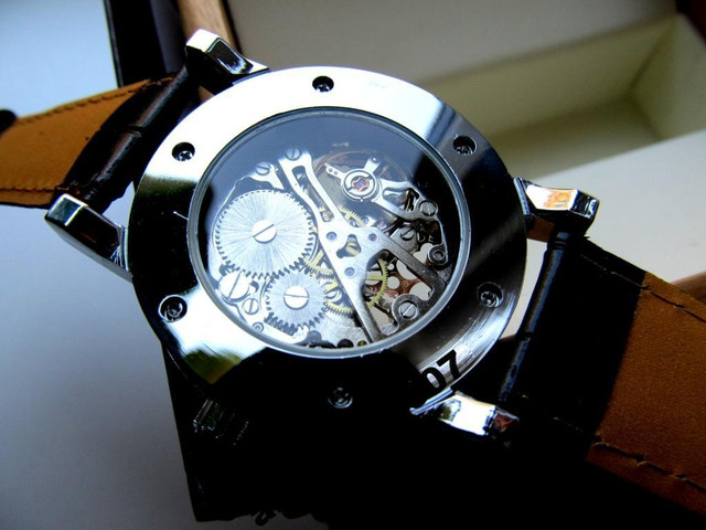 Orifinal Мужские механические часы Winner Silver Hollow (механика с автоподзаводом), часы Виннер механические - фото 3