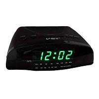 Настольные часы, будильник с радиоприемником 905-4  салатные