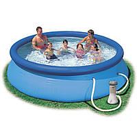 Надувной бассейн с насосом Intex 28132 (56422) (366*76 см)