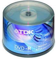 Диск DVD-R TDK 16х  Cake Box 50 pcs