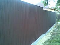 Забор из профнастила 2м