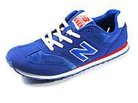 Кроссовки синие мужские текстиль отделка нубук спортивные New Balance, фото 1