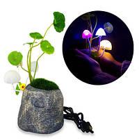 Светильник Аватар грибы на камне с датчиком освещенности ночник