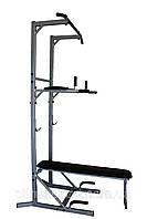 Комбинированный станок: брусья, пресс, отжимания, подтягивание, жим лежа + упоры для отжимания