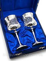 Бокалы из бронзы с серебряным напылением свадебные