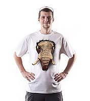 Футболка мужская Слон 3д