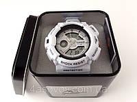 Часы спортивные G-Shock MUD белые в металлическом тубусе, водозащита 3Bar
