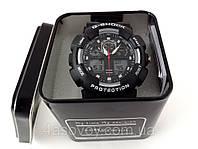Часы спортивные G-Shock - серебристые с черным в металлическом тубусе, водозащита 3Bar