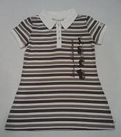 Платье-поло из органического хлопка, полоска