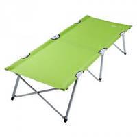 Кровать - раскладушка туристическая зеленого цвета