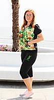 Женский летний спортивный костюм с 3D рисунком