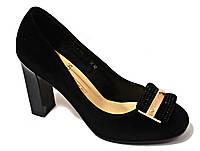 """Туфли женские черные """"Frentini"""". Замша"""