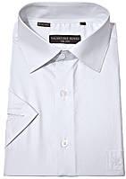 "Белая рубашка мужская ""Salvatore Russo"". Короткий рукав"