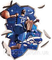 """""""Баскетбол, Говард"""", 80х100см. Виниловая 3Д наклейка"""