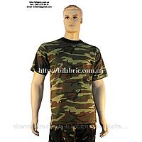 Футболка мужская К-01040, камуфляж - нато, военная, кулир, хлопок, Bifabric