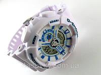 Часы спортивные G-Shock белый глянцевый ремешок