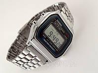 Мужские часы в стиле CASIO - мультифункциональные, серебристые, стальной браслет
