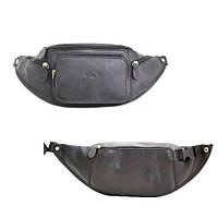 Кожаная сумка на пояс черная Katana 31000