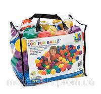 Детские шарики (мячики для бассейна) 100шт для сухого бассейна интекс Intex: диаметр 8см (Intex 49600)