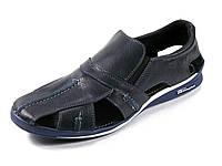 Сандалии синие закрытый носок мужские натуральная кожа летние GS-комфорт, фото 1