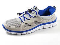Кроссовки мужские серые летние сетка текстиль спортивные шнурок, фото 1